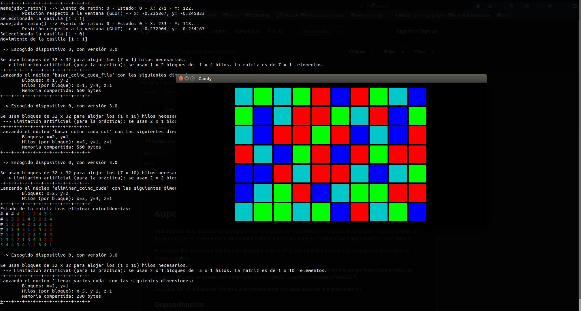 Captura de pantalla del juego con detalle extra